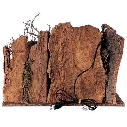 Grotta Sacra Famiglia arcata rovina illuminata presepe 35x50x25 cm 5