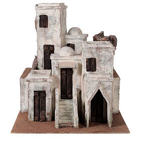 Traditional Nativity scene village with Arabic setting for 10 cm statues s1