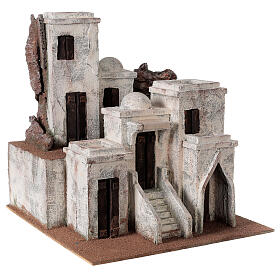 Traditional Nativity scene village with Arabic setting for 10 cm statues s3