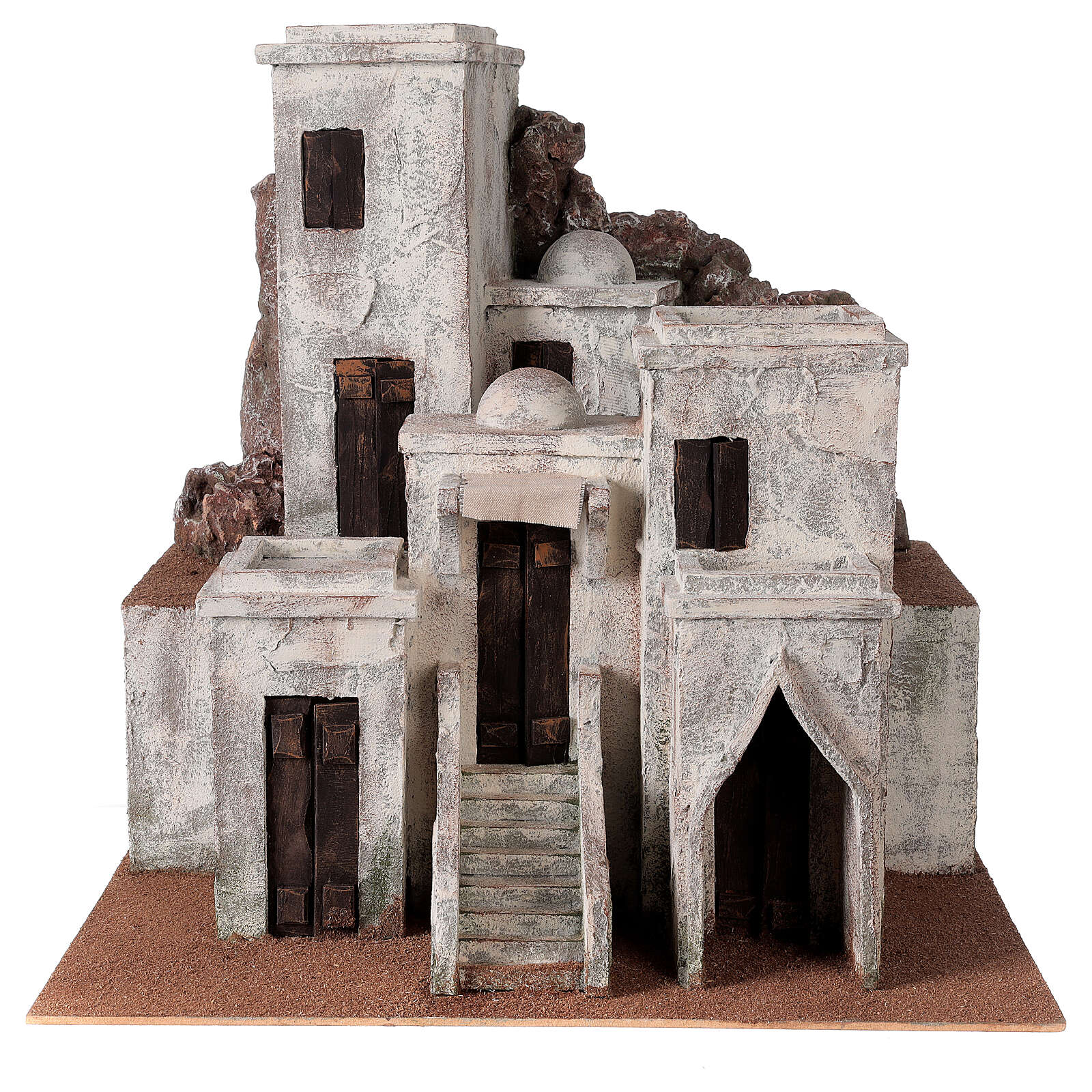 Traditional Nativity scene village with Arabic setting for 12 cm figurines 4