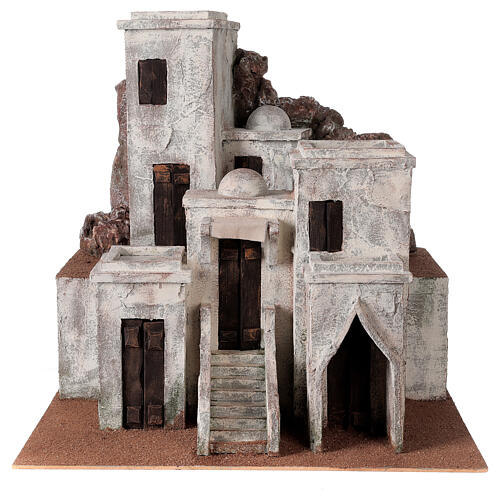 Traditional Nativity scene village with Arabic setting for 12 cm figurines 1