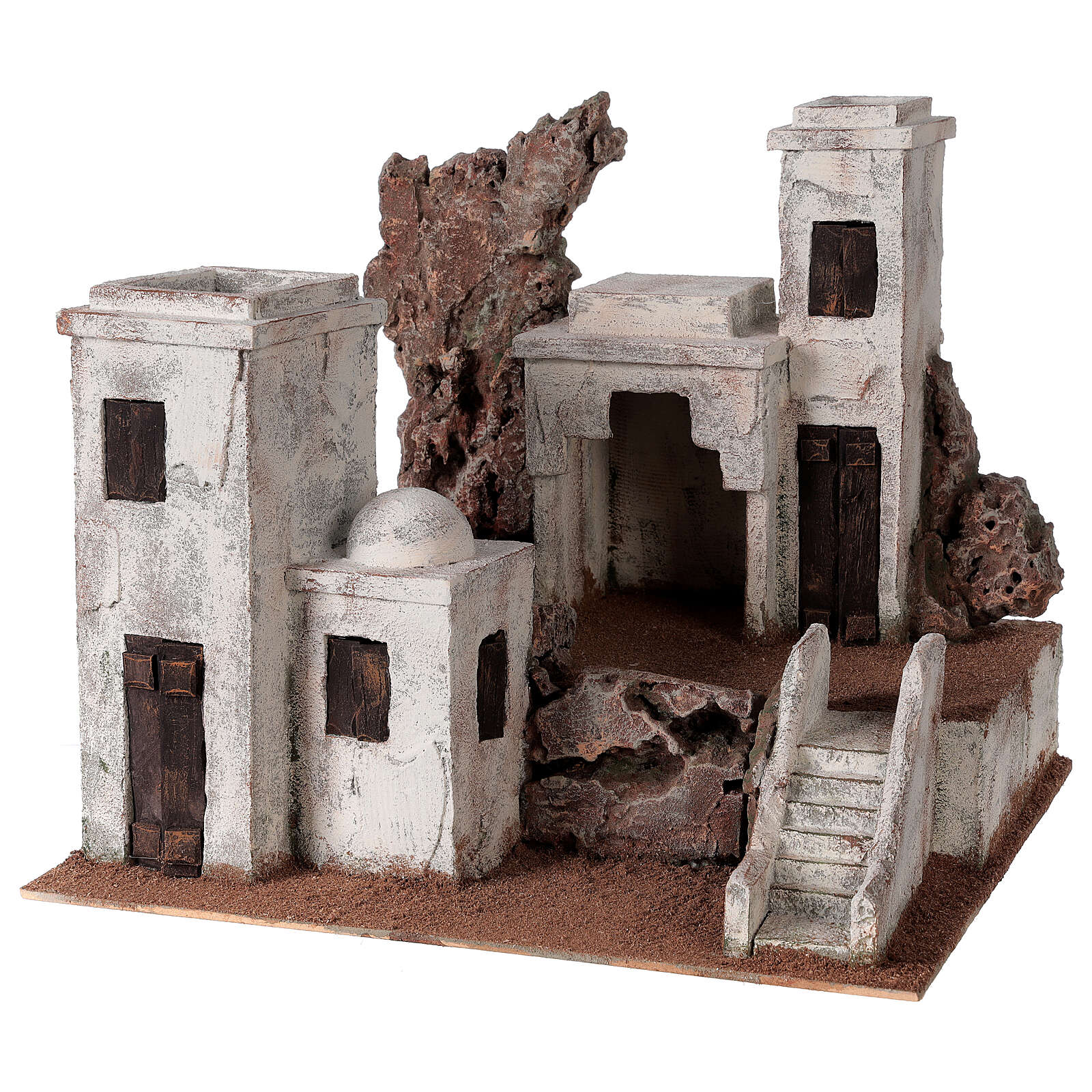 Arab Nativity scene village 34x40x36 cm for statues 10 cm 4