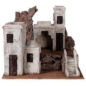Arab Nativity scene village 34x40x36 cm for statues 10 cm s1
