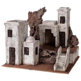 Arab Nativity scene village 34x40x36 cm for statues 10 cm s2