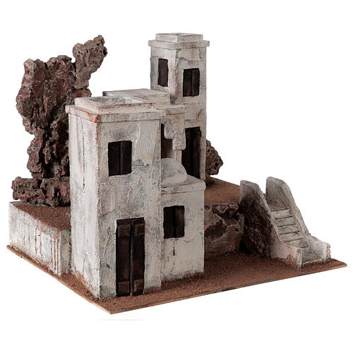 Arab Nativity scene village 34x40x36 cm for statues 10 cm 3