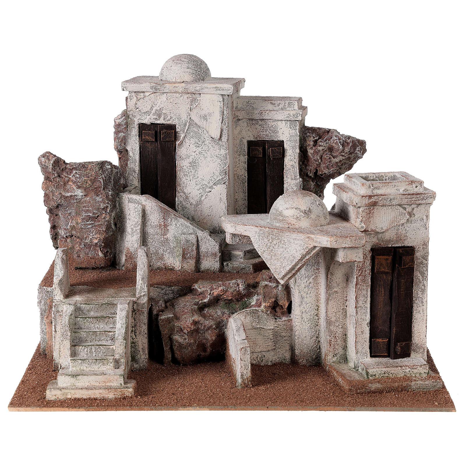 Traditional Nativity scene village 30x40x35 cm for statues 10 cm 4