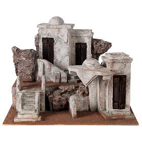 Traditional Nativity scene village 30x40x35 cm for statues 10 cm s1