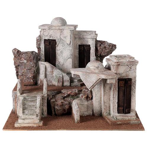 Traditional Nativity scene village 30x40x35 cm for statues 10 cm 1