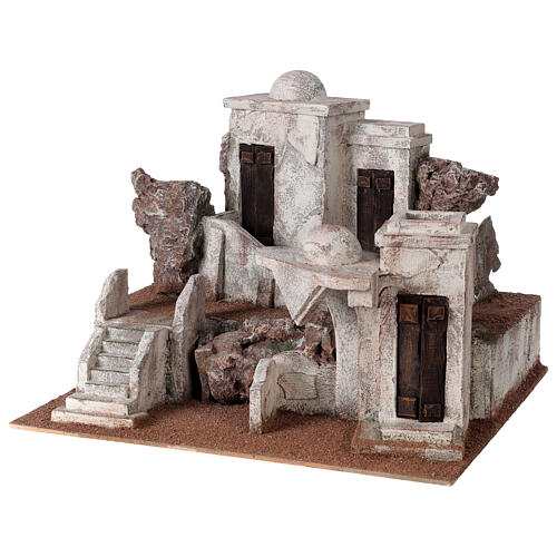 Traditional Nativity scene village 30x40x35 cm for statues 10 cm 2