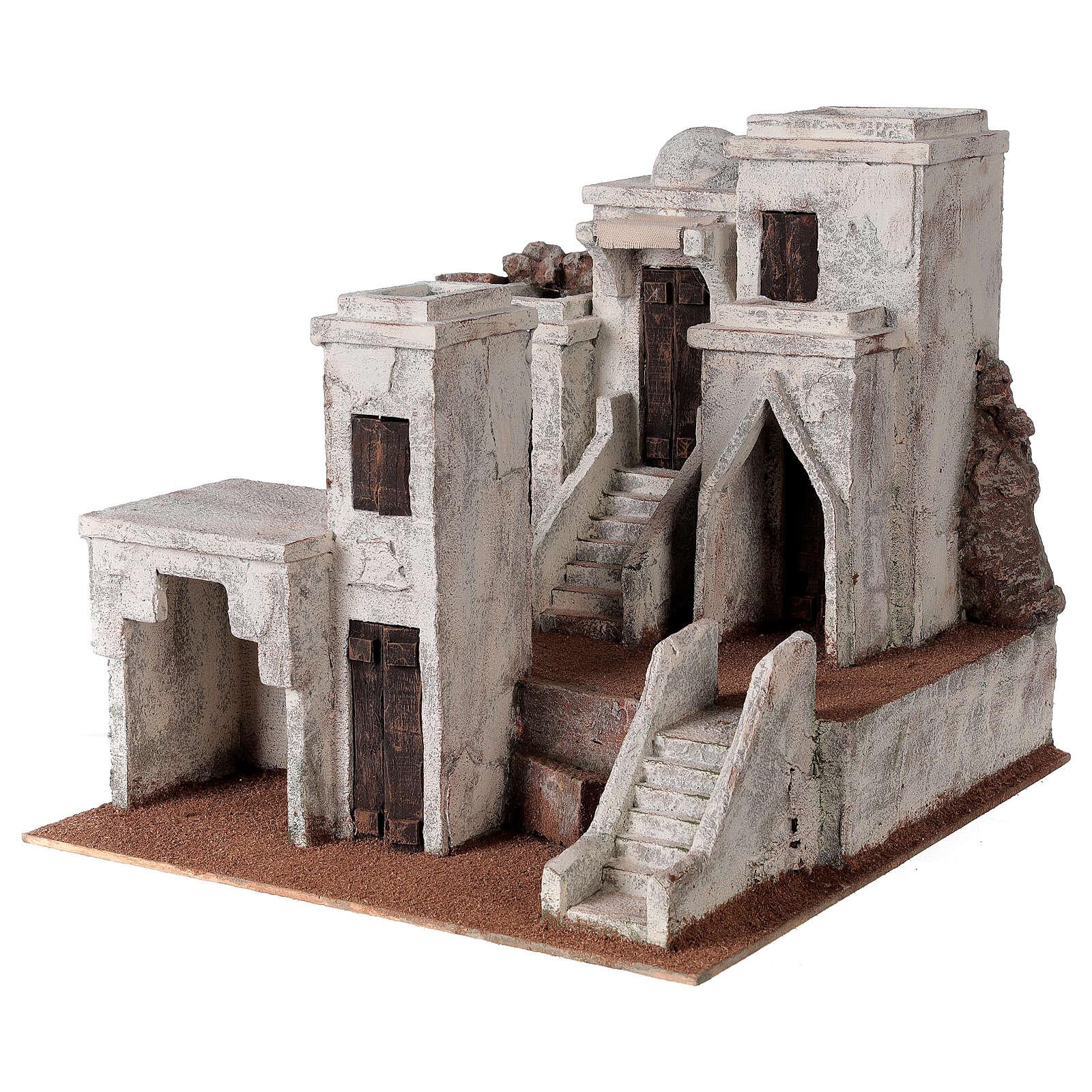 Borgo presepe ambientazione araba 34x36x40 cm per statue 10 cm 4