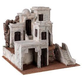 Borgo presepe ambientazione araba 34x36x40 cm per statue 10 cm s3