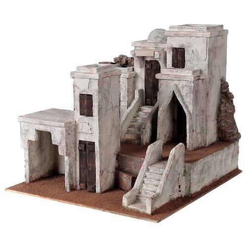 Borgo presepe ambientazione araba 34x36x40 cm per statue 10 cm 2