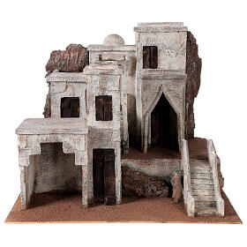 Village for Nativity scene with Arabic setting suitable for figurines of 12 cm s1