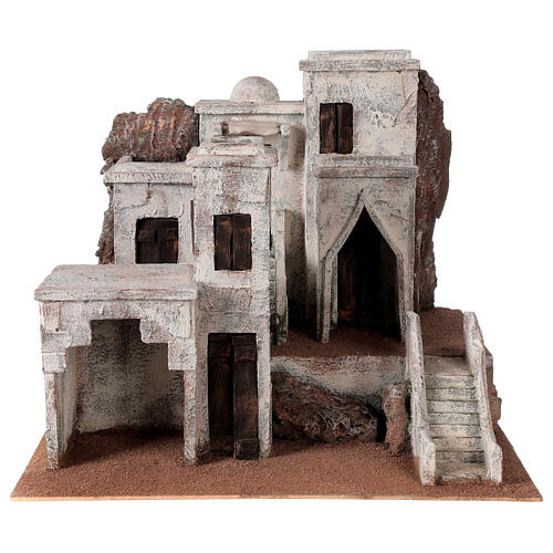 Village for Nativity scene with Arabic setting suitable for figurines of 12 cm 1