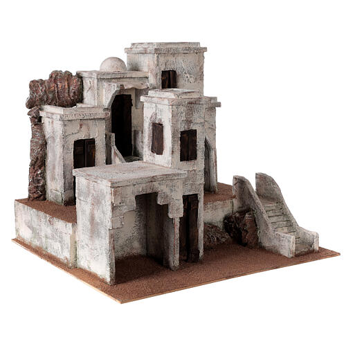 Village for Nativity scene with Arabic setting suitable for figurines of 12 cm 3
