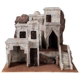 Village arabe crèche traditionnelle 40x48x44 cm pour santons 12 cm s1