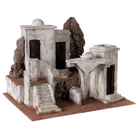 Village with Arabic setting for Neapolitan nativity scene, suitable for 12 cm figurines s3