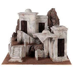 Borgo arabo presepe storico 34x45x38 cm per statue 12 cm s1