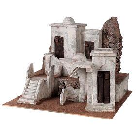 Borgo arabo presepe storico 34x45x38 cm per statue 12 cm s2