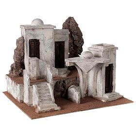 Borgo arabo presepe storico 34x45x38 cm per statue 12 cm s3