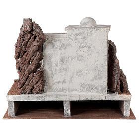 Borgo arabo presepe storico 34x45x38 cm per statue 12 cm s4