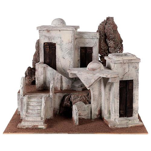 Borgo arabo presepe storico 34x45x38 cm per statue 12 cm 1