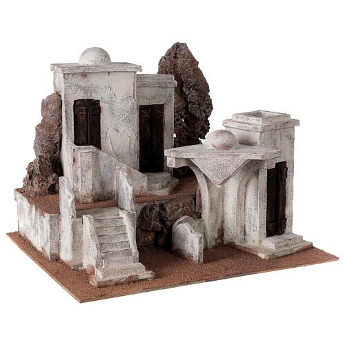Borgo arabo presepe storico 34x45x38 cm per statue 12 cm 3