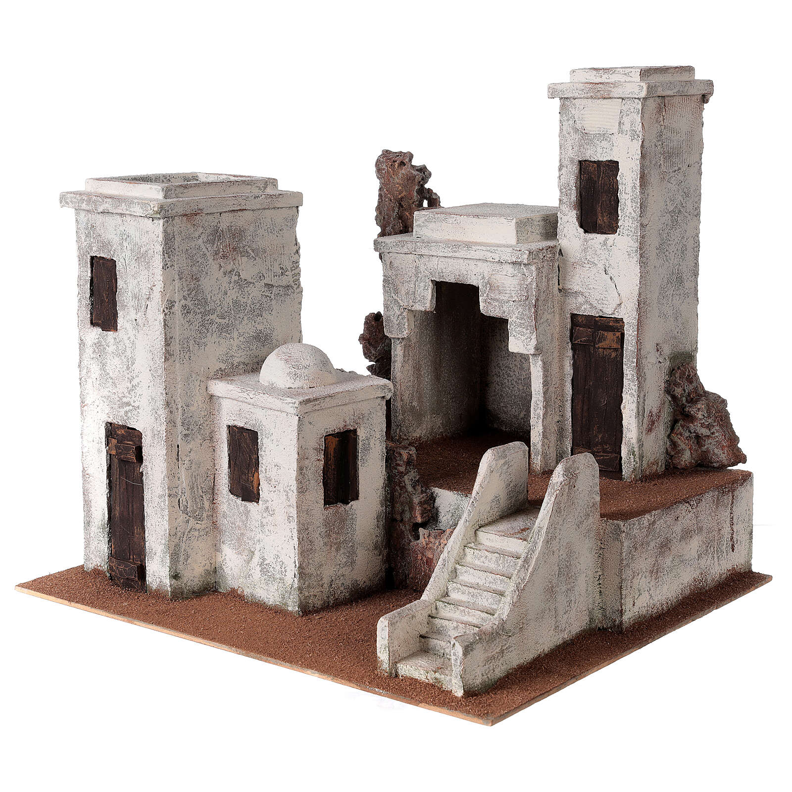 Village with Arabic setting Palestinian Nativity scene suitable for statues of 12 cm 4