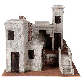 Village with Arabic setting Palestinian Nativity scene suitable for statues of 12 cm s1
