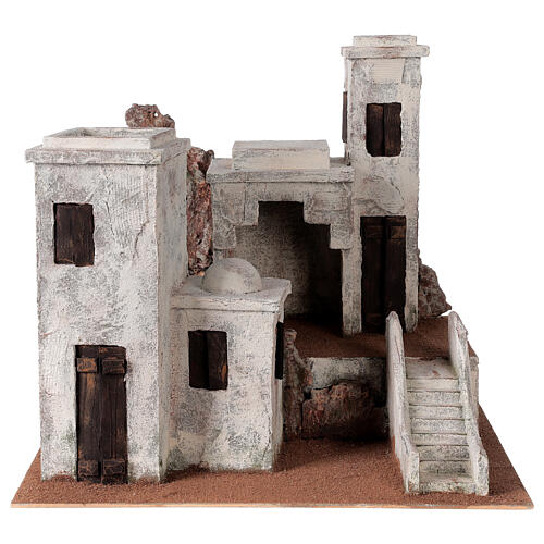 Village with Arabic setting Palestinian Nativity scene suitable for statues of 12 cm 1