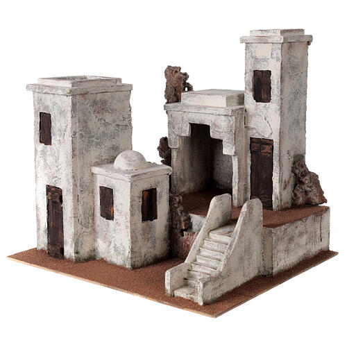 Village with Arabic setting Palestinian Nativity scene suitable for statues of 12 cm 2