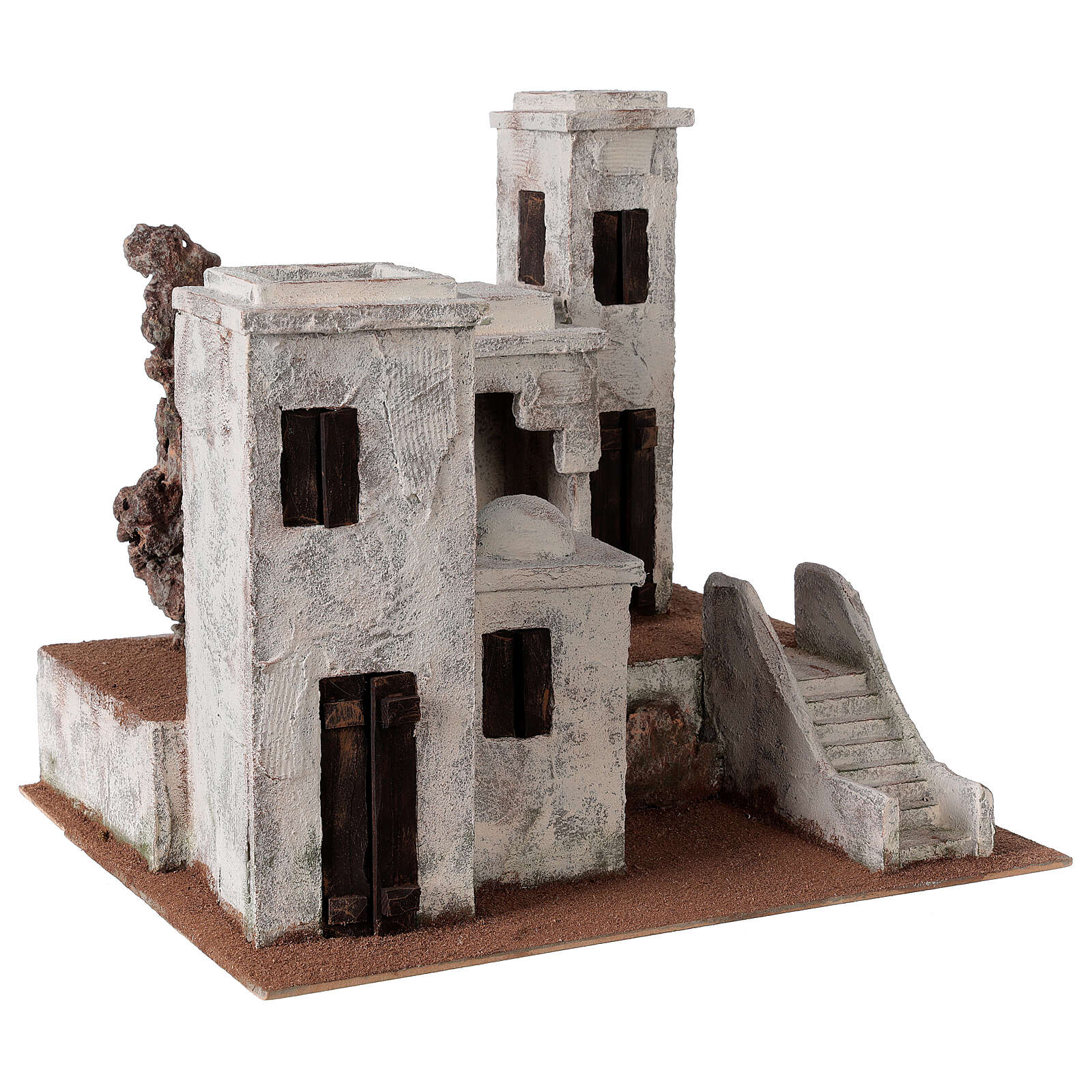 Borgo arabo presepe palestinese 40x45x38 per statue 12 cm 4