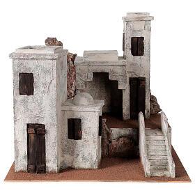 Borgo arabo presepe palestinese 40x45x38 per statue 12 cm s1