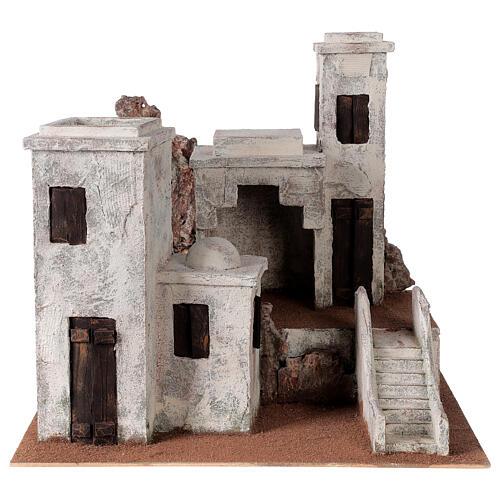 Borgo arabo presepe palestinese 40x45x38 per statue 12 cm 1