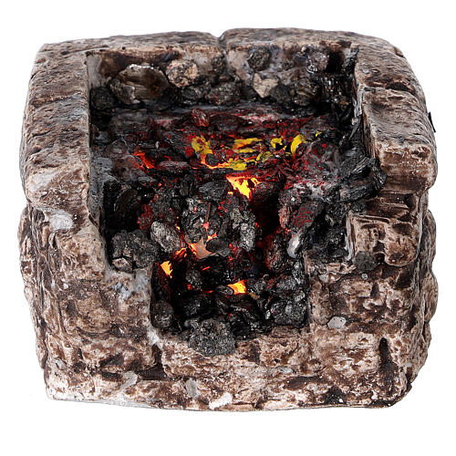 Fire with light for Nativity scene 5x10x10 cm 1