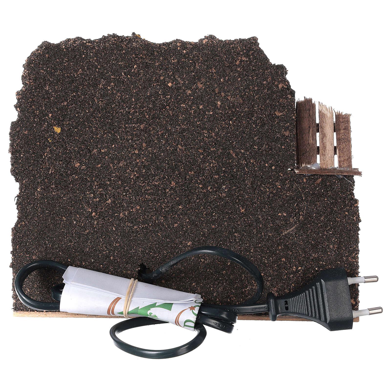 Forno legna elettrico eff fiamma presepe 15x20x15 cm figure 8-10 cm 4