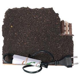 Forno legna elettrico eff fiamma presepe 15x20x15 cm figure 8-10 cm s4