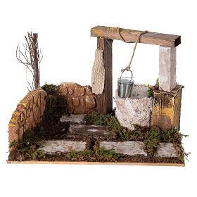 Well with bucket Nativity scene 15x20x15 cm s1