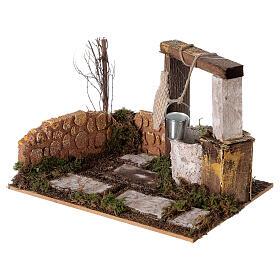Well with bucket Nativity scene 15x20x15 cm s2