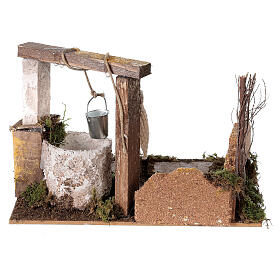 Well with bucket Nativity scene 15x20x15 cm s4