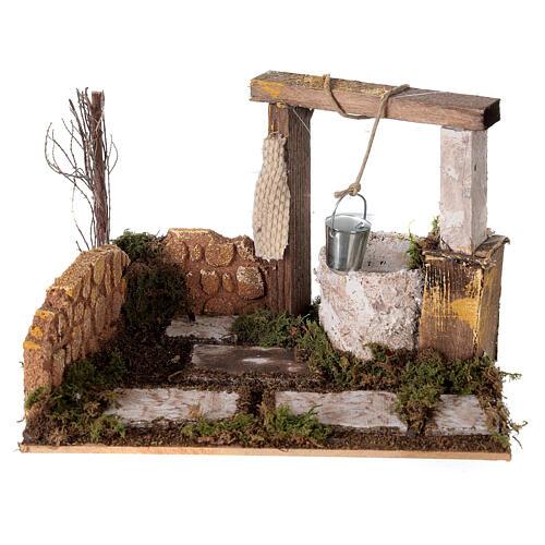Well with bucket Nativity scene 15x20x15 cm 1