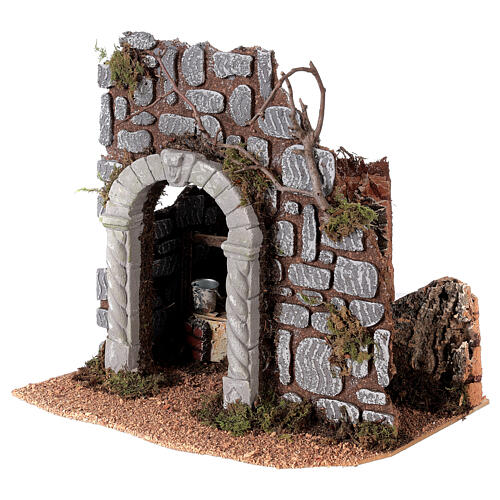 Arch with well for Nativity scene 25x25x20 cm 2