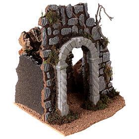 Arc avec puits crèche 25x25x20 cm santons 8-10 cm s3