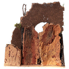 Arc avec puits crèche 25x25x20 cm santons 8-10 cm s4