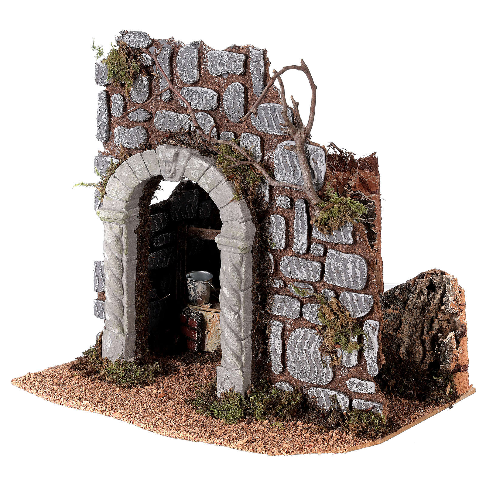 Arco con pozzo presepe 25x25x20 cm figure 8-10 cm 4