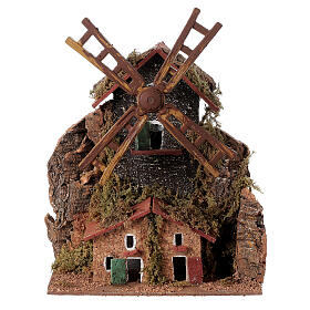 Electric windmill 20x15x10 cm for statues 8-10 cm s1
