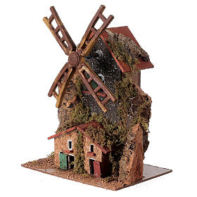 Electric windmill 20x15x10 cm for statues 8-10 cm s2