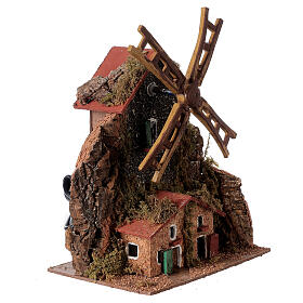Electric windmill 20x15x10 cm for statues 8-10 cm s3