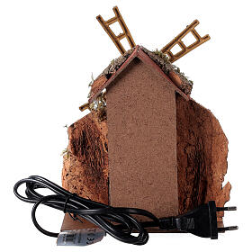 Electric windmill 20x15x10 cm for statues 8-10 cm s4