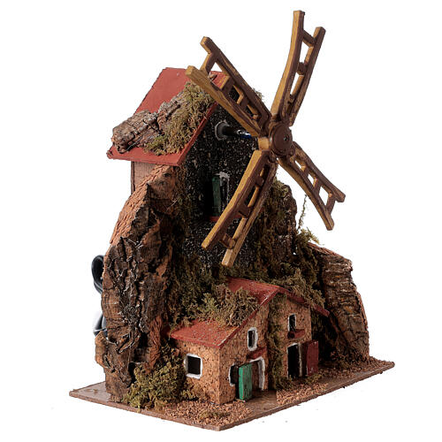 Electric windmill 20x15x10 cm for statues 8-10 cm 3